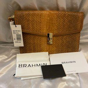 Brahmin Ruth Cognac Everett Clutch Wristlet